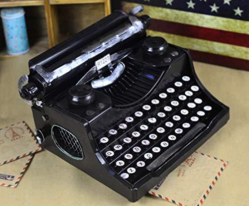 Retro Schreibmaschinenmodell, Heimdekoration, Fotografie Requisiten, Bardekoration 9,4 * 7,5 * 5,5 Zoll