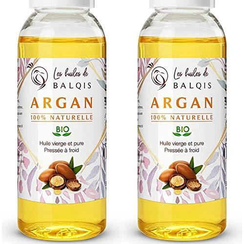 2x50 ml Huile d' ARGAN oil 100% bio du maroc...