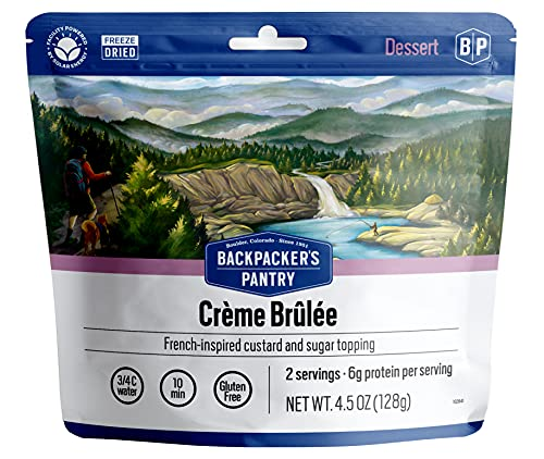 Backpacker's Pantry Creme Brulee | Freeze Dried Backpacking & Camping Food | Emergency Food | 12 Grams of Protein, Vegetarian, Gluten-Free | 1 Count