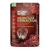 Optimal Native Hericium Extrakt Kapseln - Veganes Nahrungsergänzungsmittel mit Igelstachelbart Pilz | Löwenmähne bzw Lions Mane Mushroom - 1000mg Tagesdosis | 120 Kapseln Hericium Erinaceus Heilpilze