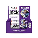 PhD Smart Jack, Protein and Oat Flapjack-Blueberry Muffin, 60 g, Pack of 12