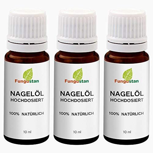 Fungustan – Teebaumöl Nagelöl zur Stärkung der Nägel (3 Flaschen je 10ml)