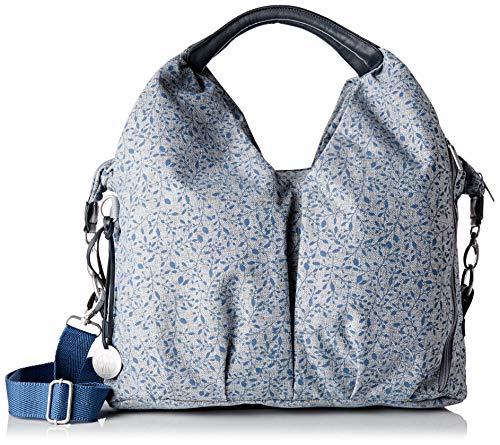 LÄSSIG Baby Wickeltasche nachhaltig inkl. Wickelzubehör nachhaltig produziert/Green Label Neckline Bag, grau/schwarz