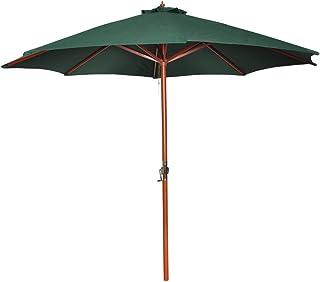 vidaXL Parasol Green 258cm Garden Beach Umbrella Sun Shade Awning Canopy