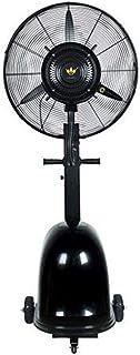 Ventiladores de pedestal/Ventilador de servicio pesado Ventilador de enfriamiento oscilante potente Ruido silencioso (180 cm) / Ventilador de nebulización humidificador industrial/Ventilador de