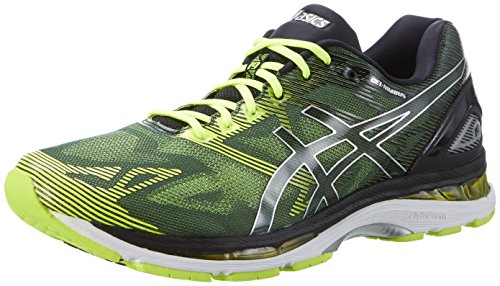 ASICS Gel-Nimbus 19, Scarpe Sportive Outdoor Uomo, (Black/Safety Yellow/Silver), 40.5 EU