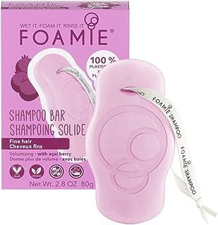 Shampoo solido Foamie con bacche di acai per capelli fini e senza volume Shampoo 100% vegano e senza plastica per capelli ...