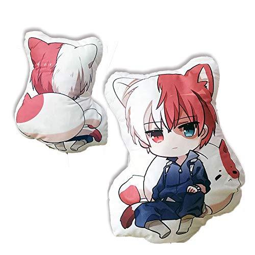 futurecos My Hero Academia Todoroki Shoto Cute Figure Plush Toy Pillows Anime BNHA Plushies Throw Pillows Boku no Hero Academia Back Cushions Plush Toys Gift for Girls Boys