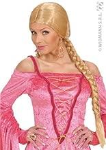 WIDMANN Castle Beauty withPlait - Blonde Wig for Hair Accessory Fancy Dress