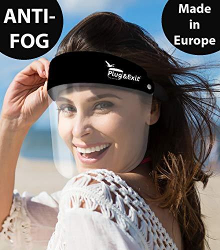 3X Visier Gesichtsvisier Gesichtsschild Face Shield Anti Fog KEIN BESCHLAGEN schwarz