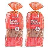 Kiss My Keto Bread Cinnamon Raisin — Low Carb Bread (2g Net), 5g Protein / Slice | Fruity Keto Bread Low Carb & Low Sugar | Low Calorie, Zero Soy with No GMOs (2 Packs)
