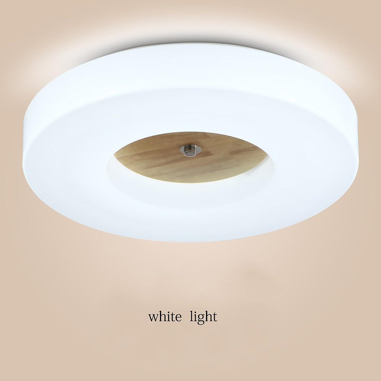 Plafonniers HAIZHEN Lampe de Plafond en Bois Massif LED Nordique pour Chambre de la Chambre du Couloir de Balcon (35cm-18W   41CM-24W   48CM-30W) Meilleure Valeur
