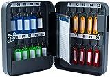 Pavo 8027033 Schlüssel-Kasten/Schrank, 20 Haken mit seitlichem Schlüsseleinwurf, dunkelgrau