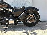 Medusa Black Sporty Borsa laterale sinistra Sportster Harley Davidson Forty Eight XL Roadster 1200 883 Iron dal 2004 in poi, borsa per sella in pelle nera