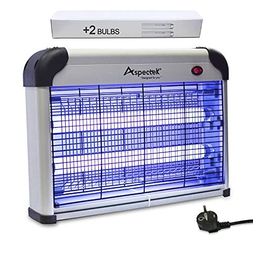 ASPECTEK Lampe UV Anti Insectes Volants. Tue-Mouche Destruct