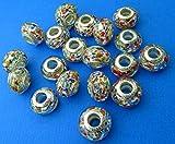 Nuevo 14mm Multi Coloured Europea estilo cristal de Murano cuenta para pulsera (Roundel 1pieza