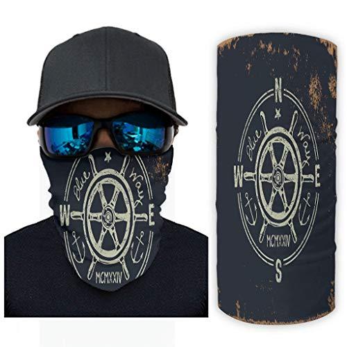 Bestwe Rudder 12 en 1 - Máscara de protección solar transpirable para festivales musicales, equitación y exterior, para hombre y mujer, blanco, talla única