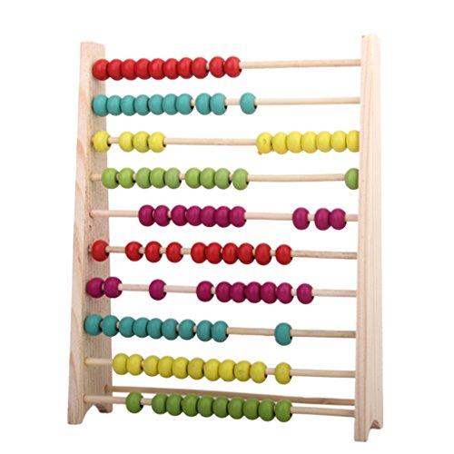 Juguetes Educativos de Matemáticas Ábaco de Madera Calculadora Niños Bebés