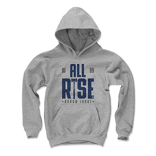 500 LEVEL New York Baseball Youth Hoodie - Kids Medium Gray - Aaron Judge Rise B