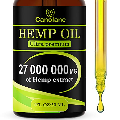 Hemp Oil Drops, 27 000 000 mg, Natural CO2 Extracted, 100% Organic, Pain, Stress, Anxiety Relief, Reduce Insomnia, Vegan Friendly