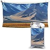 Toalla de baño de Secado rápido Toallas de Playa Suaves y absorbentes Pamir Tayikistán para Acampar Hacer mochileros Gimnasio Viajar Nadar 28.7 '' x 51 ''