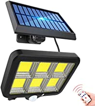 Solar Outdoor Light 150 LED Motion Sensor Wall Lights Street Light Wired Security Flood Lights with Long Cable Adjustable ...