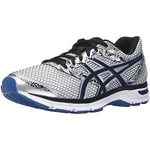 ASICS Men's Gel-Excite 4 Running Shoe, Silver/Black/Imperial, 10 M US