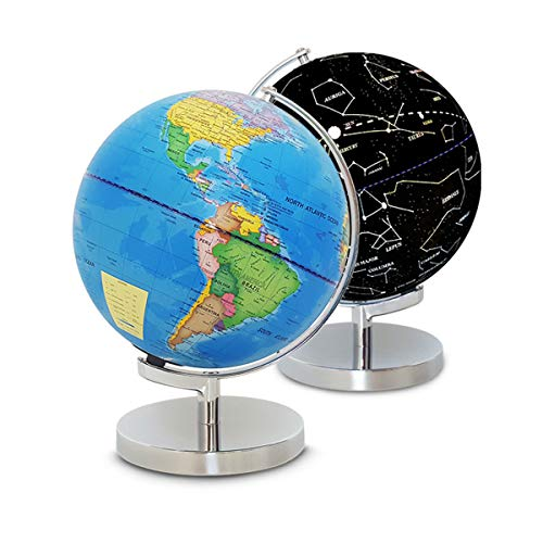 Lisanl Toy Supplies and Accessories - LED Constellation Globe for Kids - 3 in 1 Educational STEM Toys, Light Up World Globe, Constellation Globe and Nightlight w/ Stand