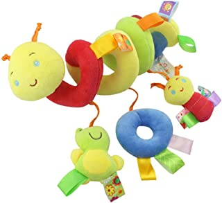 Fliyeong Kid Baby Crib Cot Pram Hanging Rattles Spiral Stroller Car Seat Toy with Ringing Bell Practical and Popular