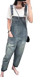 maweisong レディースバギーデニムビブオーバーオールルーズジーンズジャンプスーツジーンズ