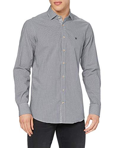 Hackett London Autumn Mini CHK Camisa, 6azgreen/Multi, M para Hombre