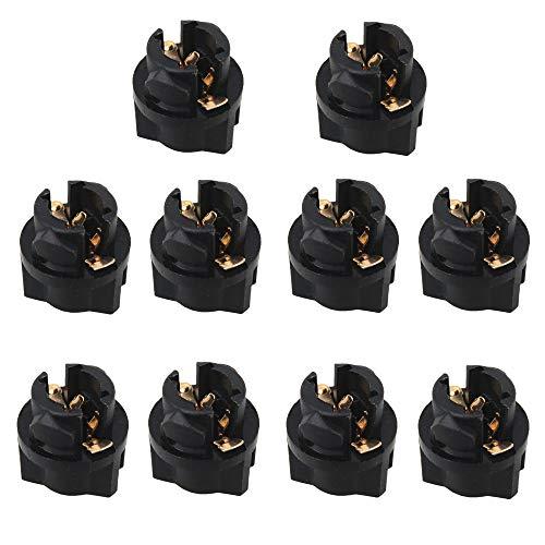 WLJH 10 Connecteurs Douille Ampoule T5 Twist 0,95cm 2721 286 Ampoule tableau de bord