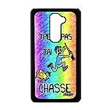 utaupia Coque G2 j'peux Pas J'Ai Chasse Drole Mobile Humour Chasseur Noir Case Dessin LG G2