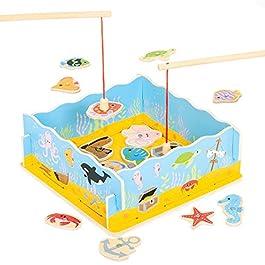 Bigjigs Toys Pesca Magnetica con Base