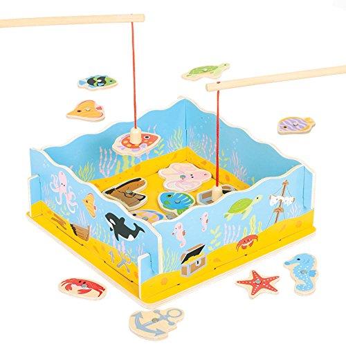 Bigjigs Toys Magnetisches Angelspiel mit Bodenplatte
