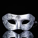 gaiya Máscara De Plástico Personal Máscara De Fiesta De Maquillaje De Halloween Tallado Plateado Antiguo