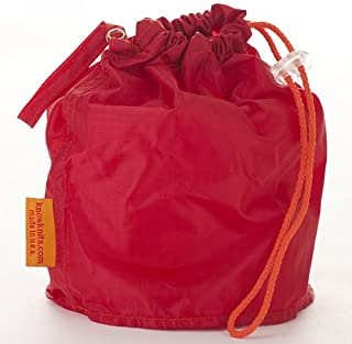 KnowKnits Red Medium GoKnit Pouch Project Bag w/Loop & Drawstring