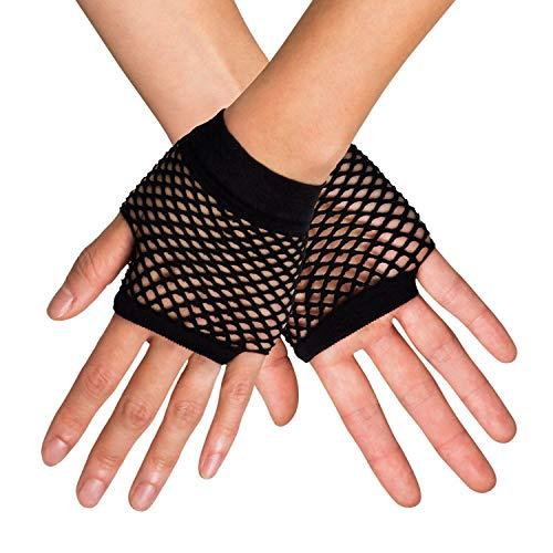 Boland 03050 - Handschuhe New York, Einheitsgröße, schwarz, Netzhandschuhe, Stulpen, Kostüme, Karneval, Mottoparty