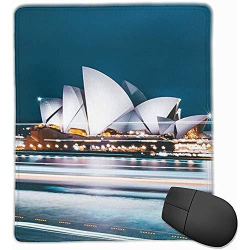 Gaming Mouse Pad Australische Stadt Sydney Komfortable rutschfeste Basis Langlebige genähte Kanten für Laptop-Computer und PC 25X30CM