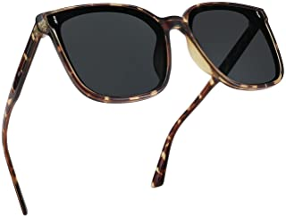 FEISEDY Women Oversized Vintage Square Quay Polarized Sungl Trendy Classic Simple Chic UV400 Protection Shades Men B2758