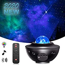 Star Projector Night Light Projector with LED Galaxy Ocean Wave Projector Bluetooth Music Speaker for Baby Bedroom,Game Rooms,Party,Home Theatre,Night Light Ambiance-DM Black