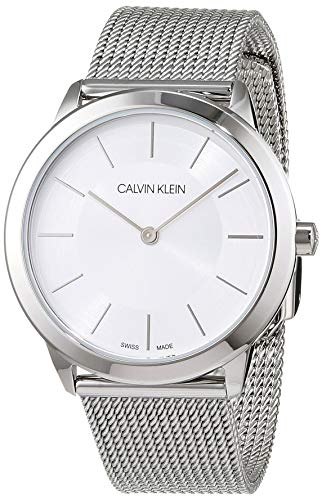Calvin Klein Damen-Armbanduhr XS minimal Analog Quarz Edelstahl K3M22126