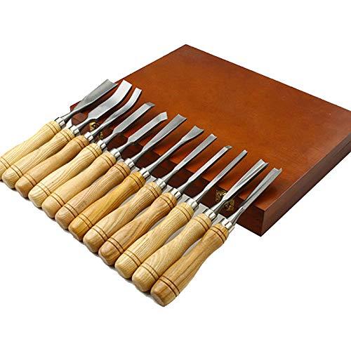 Juego De Cinceles Para Tallar Madera 12 Piezas Gubias Profesionales Para Tallar Herramientas Afiladas Para Trabajar La Madera, Con Caja De Madera