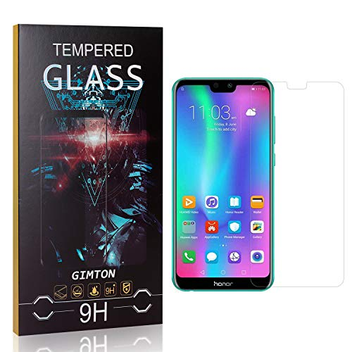 GIMTON Tempered Glass Screen Protector for Huawei Honor 9I, Fingerprint Proof, Anti-Scratch, Bubble Free HD Screen Protector Film for Huawei Honor 9I, 1 Pack