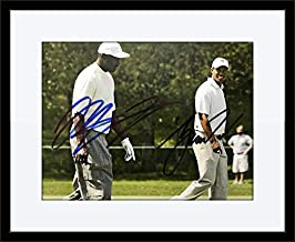 Framed Michael Jordan Tiger Woods Photo Authentic Autograph with Certificate of Authenticity