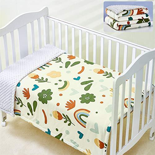 Manta para Bebé Recién Nacido Edredón de Manta de Cuna, Mantas de Algodón Unisex Suaves Cómodas para Bebés, Manta de Cochecito, Universal para Todas Las Estaciones, 39' * 55',Rainbow