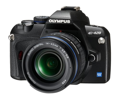 Olympus E-420 SLR-Digitalkamera (10 Megapixel, LifeView) Kit inkl. 14-42mm & 40-150mm Objektive