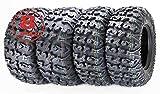 FREE COUNTRY Set 4 Premium ATV Tires 25x10-12 & 25x11-12 8PR w/Side Scuff Guard