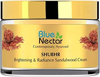 Blue Nectar Ayurvedic Brightening Face Cream for Skin Glow with Sandalwood, Turmeric and 13 Ayurvedic Herbs...