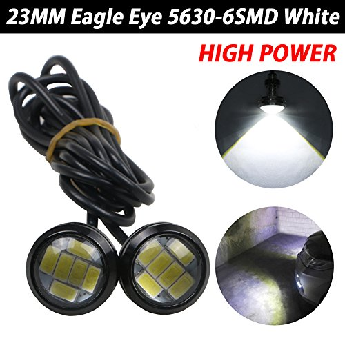 1pair automatique Halo Rings Angel Eye COB Chips phares DRL LED moto et en voiture Taille : 120mm//93LEDS Angel Eye